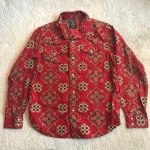 Lucky brand boys western shirt red 8